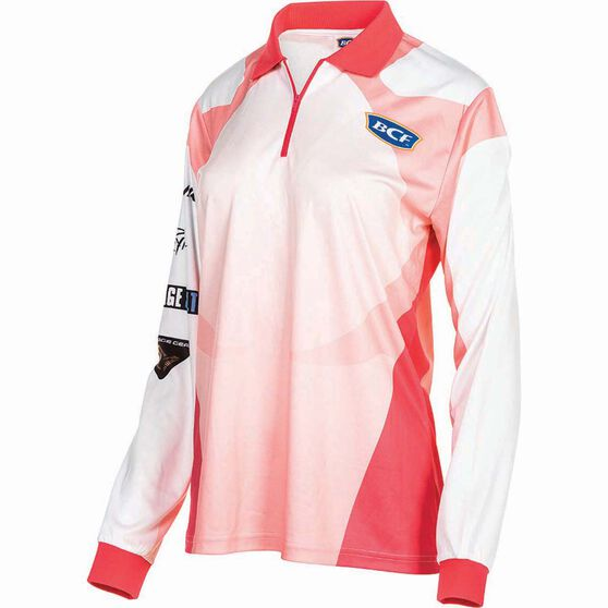 BCF Women's Corporate Sublimated Polo Coral 14, Coral, bcf_hi-res