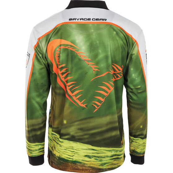Savage Men's Murray Cod Sublimated Polo, Green, bcf_hi-res