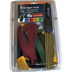 Gripwell Flat Bungee Strap - 6 Pack, , bcf_hi-res