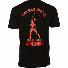 The Mad Hueys Men's Legends Worldwide UV Tee Black / Red S, Black / Red, bcf_hi-res
