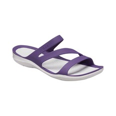 Crocs Womens Swiftwater Sandal Mulberry / Pearl White 6, Mulberry / Pearl White, bcf_hi-res