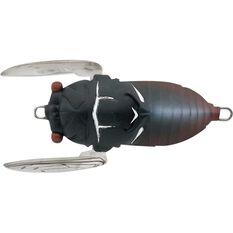 Tiemco Cicada Soft Shell Surface Lure 40mm Black, Black, bcf_hi-res