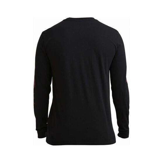 Quiksilver Men's Empty Shoreline Long Sleeve Tee, Black, bcf_hi-res