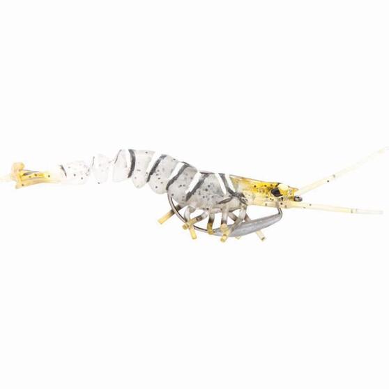 Savage 3D Shrimp Soft Plastic Lure 3.5in Zebra, Zebra, bcf_hi-res