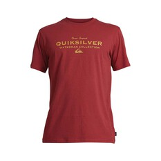 Quiksilver Waterman Men's Sea Mist Tee Burgundy S, Burgundy, bcf_hi-res