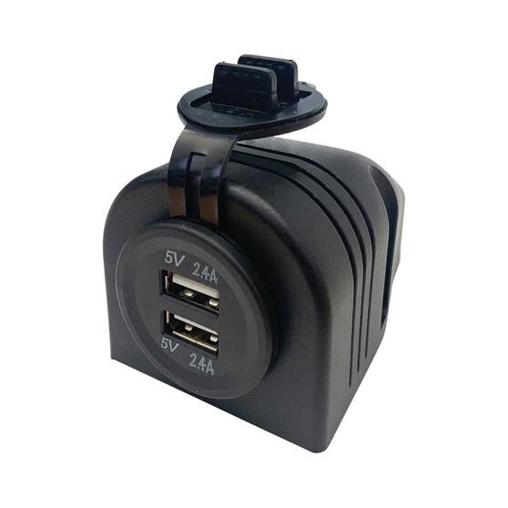 KT Cables 1A - 2.1A 12v Surface Mount Dual LED USB, , bcf_hi-res