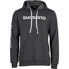 Shimano Men's Basic Hoodie Greymarle/White print S, , bcf_hi-res
