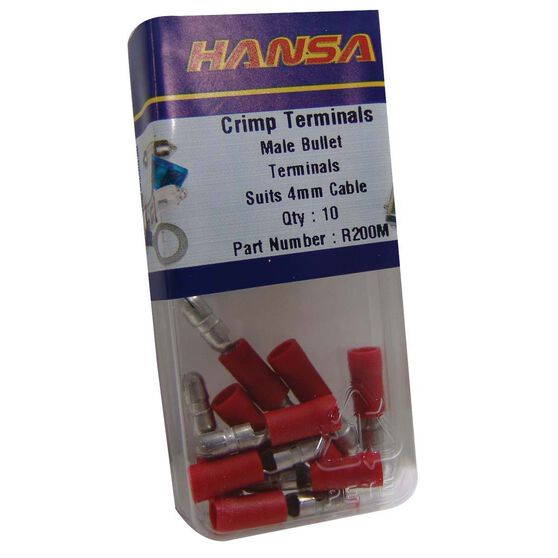 Hansa Insulated Bullet Male Electrical Terminal 2-3mm, , bcf_hi-res