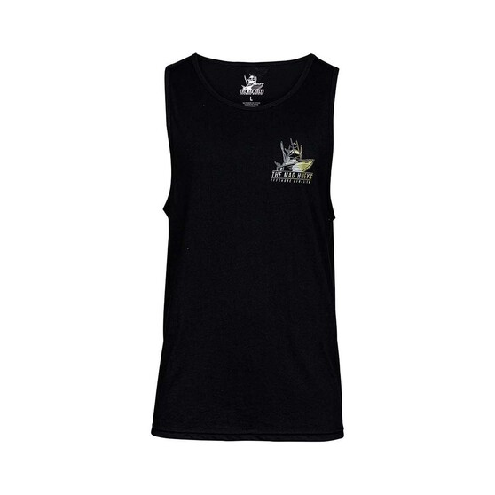 The Mad Hueys Men's Offshore Camo UV Tank, Black, bcf_hi-res