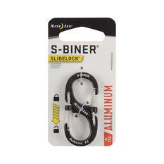 Nite Ize S Biner SlideLock Aluminium No.2  Charcoal, , bcf_hi-res