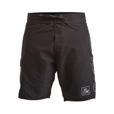 The Mad Hueys Men's Amphibian Boardshorts 19in Black 30, Black, bcf_hi-res