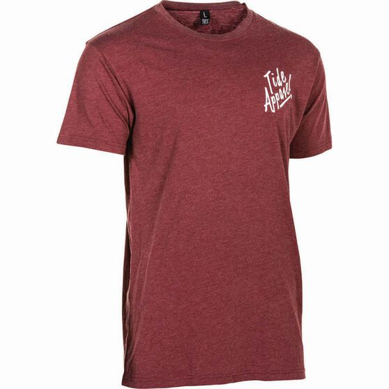 Tide Apparel Men's Feelin Good Tee, Burgundy, bcf_hi-res