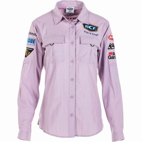 BCF Women's Long Sleeve Fishing Shirt Orchid / Purple 18, Orchid / Purple, bcf_hi-res