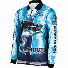 BCF Men's Barra Graphic Sublimated Polo Blue S, Blue, bcf_hi-res
