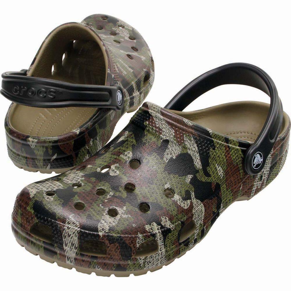 2c3cd5938 Crocs Men s Camo Classic Clog Khaki M7   W9