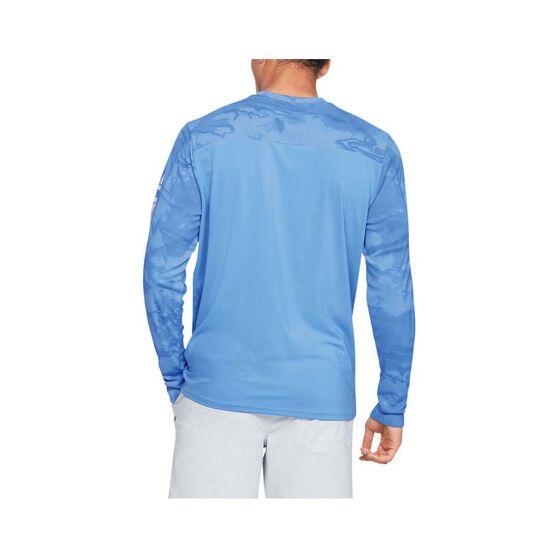 Under Armour Men's Shore Break Iso-Chill Sublimated Shirt Carolina Blue / White S, Carolina Blue / White, bcf_hi-res
