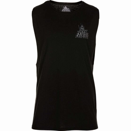 The Mad Hueys Men's Offshore UV Muscle Tee Black L, Black, bcf_hi-res