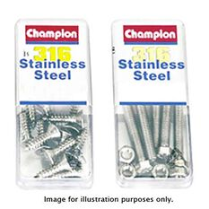 Champion Self Tapping Countersunk Screws, , bcf_hi-res