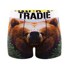 Tradie Men's Bear Trunks, , bcf_hi-res