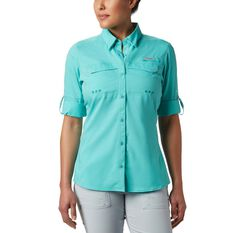 Columbia Women's Low Drag Offshore Long Sleeve Shirt, Dolphin, bcf_hi-res