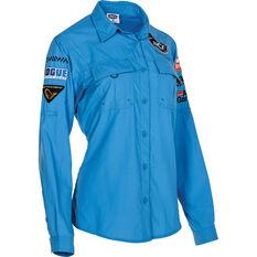 Women's Long Sleeve Fishing Shirt Azure 8, Azure, bcf_hi-res