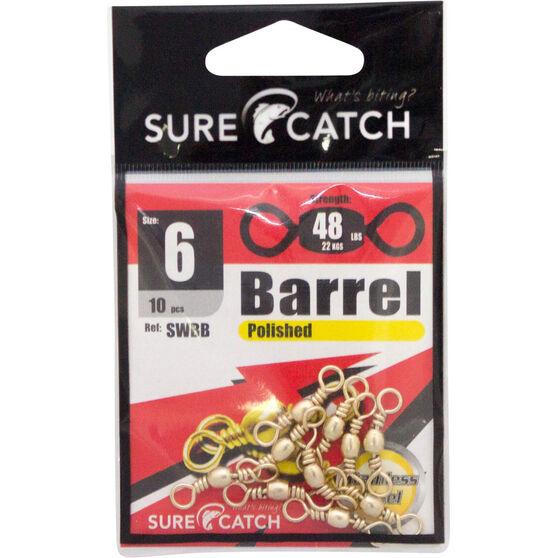 Surecatch Brass Barrel Swivel 10 Pack, , bcf_hi-res