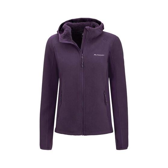 Macpac Women's Mountain Hooded Jacket, Nightshade Grey, bcf_hi-res