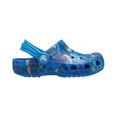 Crocs Kids Classic Shark Clog Prep Blue C9, Prep Blue, bcf_hi-res