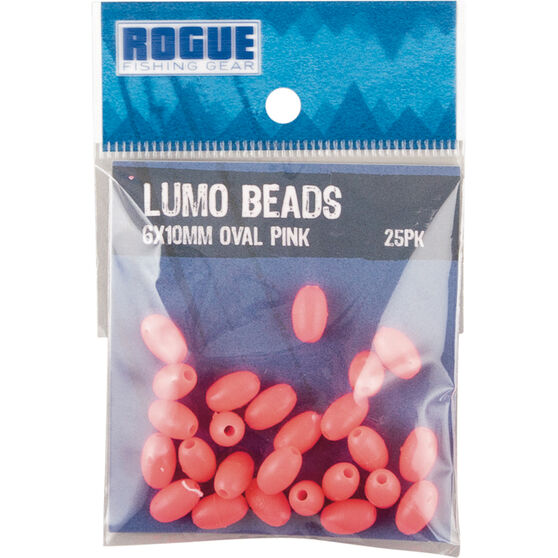 Rogue Oval Lumo Beads 25 Pack, Pink, bcf_hi-res