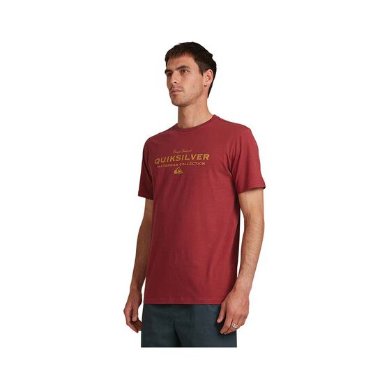 Quiksilver Waterman Men's Sea Mist Tee, Burgundy, bcf_hi-res