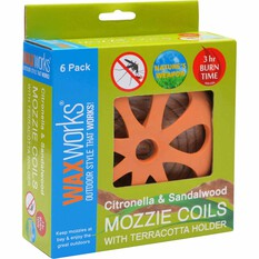 Waxworks Citronella and Sandalwood Coils 6 Pack, , bcf_hi-res