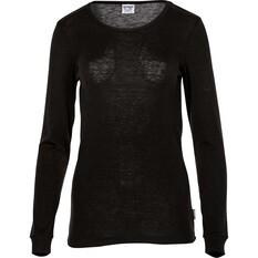 OUTRAK Women's Polypro Long Sleeve Top Black 8, Black, bcf_hi-res