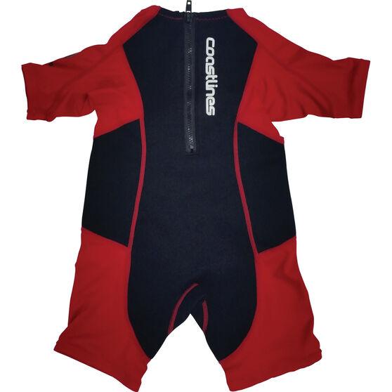 Coastlines Kids' Rash Swimsuit Blue / Red 4 Kids', Blue / Red, bcf_hi-res