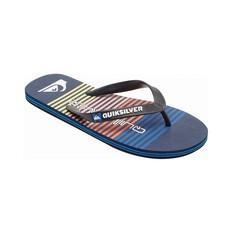 Quiksilver Men's Molokai Point Break Thongs Black / Blue 8, Black / Blue, bcf_hi-res