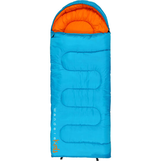 Wanderer MiniFlame Single Hooded Sleeping Bag Blue / Orange, Blue / Orange, bcf_hi-res
