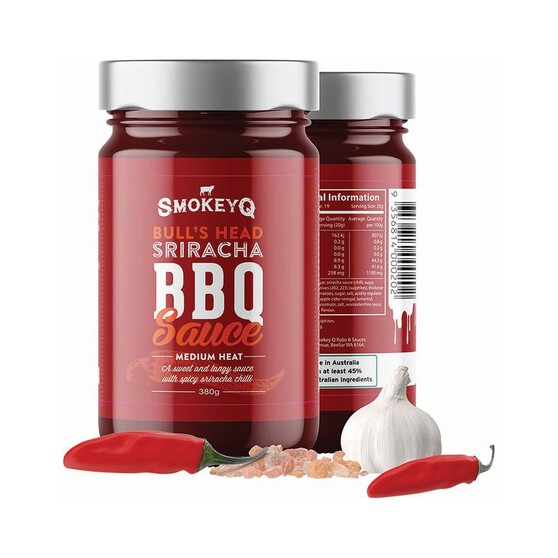 Smokey Q Bull's Head Sriracha BBQ Sauce 380G, , bcf_hi-res