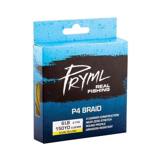 Pryml P4 Braid Line 150yds, Yellow, bcf_hi-res