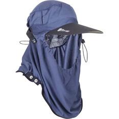Sunprotection Australia Unisex Adapt-a-Cap Cap Charcoal / Grey OSFM, Charcoal / Grey, bcf_hi-res