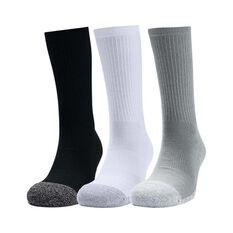Under Armour Men's Heatgear Crew Socks 3 pack Multi M, Multi, bcf_hi-res