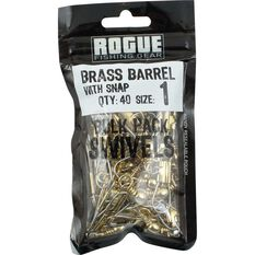 Brass Barrel Snap Swivel 40 Pack, , bcf_hi-res