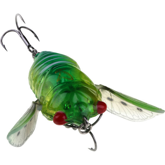 Savage 3D Cicada Surface Lure 4.8cm Green Clear, Green Clear, bcf_hi-res