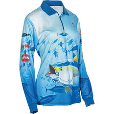 BCF Women's Tuna Sublimated Polo Blue 8, Blue, bcf_hi-res