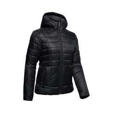 Under Armour Women's Hooded Insulated Jacket Black / Jet Gray S, Black / Jet Gray, bcf_hi-res