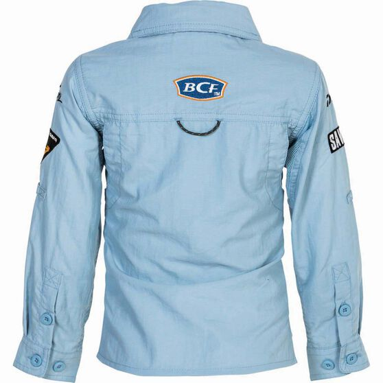 BCF Kids' Long Sleeve Fishing Shirt Spray 5, Spray, bcf_hi-res