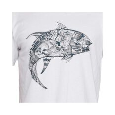 Quiksilver Waterman Men's Tattoo Tuna Short Sleeve Tee, White, bcf_hi-res