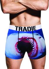 Tradie Men's Shark Attack Trunk, Print, bcf_hi-res