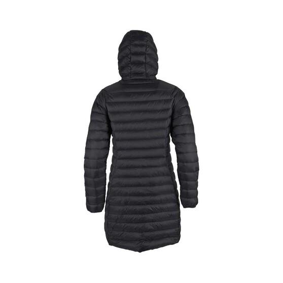 Macpac Womens Uber Light Long Jacket, Black, bcf_hi-res