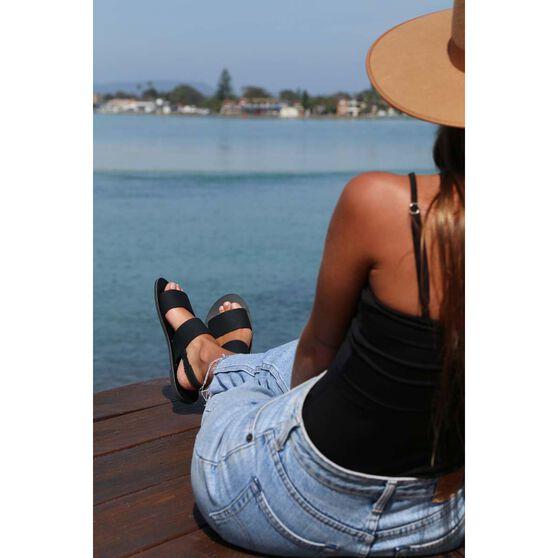 KUSTOM Women's Shanty Sandal, Black, bcf_hi-res