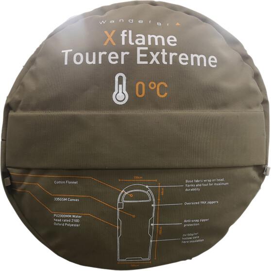 Wanderer XFlame Tourer Extreme 0 Hooded Sleeping Bag, , bcf_hi-res