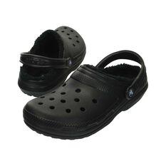 Crocs Classic Lined Clog - Unisex, Black/Black, 7 Black 7, Black, bcf_hi-res
